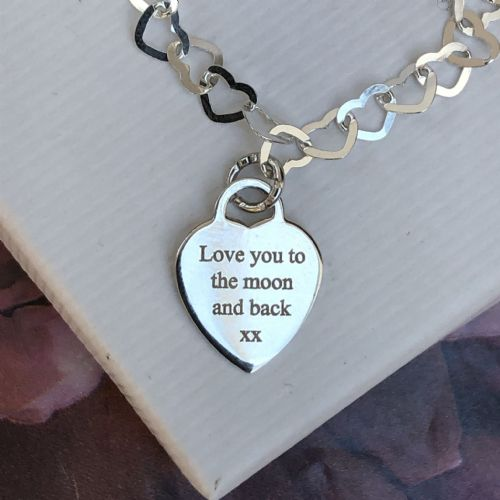 Love you to the moon gift bracelet - FREE ENGRAVING